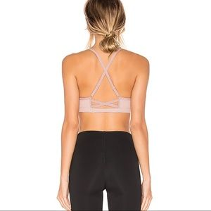 Beyond Yoga Cross It Back Bra Criss Cross Blush